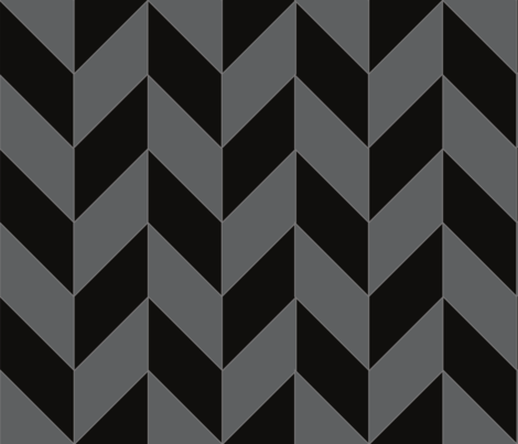 Black And Gray Herringbone fabric by gates_and_gables on Spoonflower - custom fabric