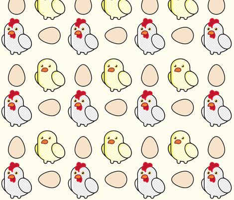 Pop Art Chickens - (6in) fabric by studiofibonacci on Spoonflower - custom fabric