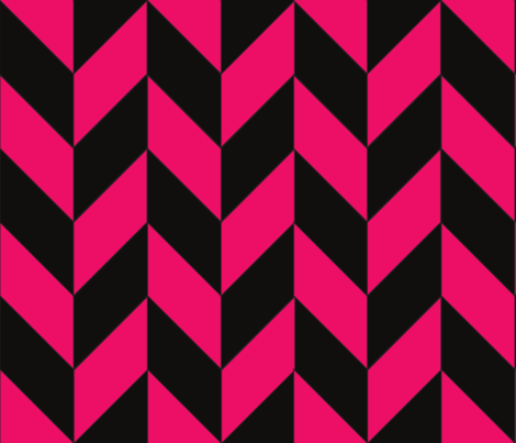 Black and Pink Herringbone fabric by gates_and_gables on Spoonflower - custom fabric