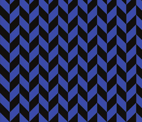 Small Blue and Black Herringbone fabric by megankaydesign on Spoonflower - custom fabric
