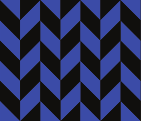 Blue and Black Herringbone fabric by gates_and_gables on Spoonflower - custom fabric