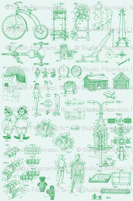 Patent Drawings - Toys (green) - paper