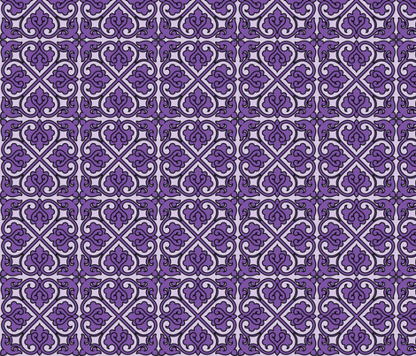 Victorian Ornament (purple) fabric by studiofibonacci on Spoonflower - custom fabric