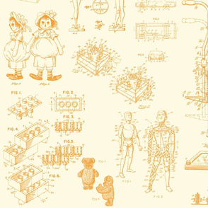 Patent Drawings - Toys (orange) - paper