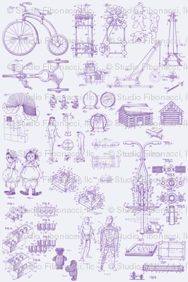 Patent Drawings - Toys (purple) - paper