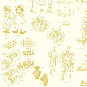 Patent Drawings - Toys (yellow) - paper
