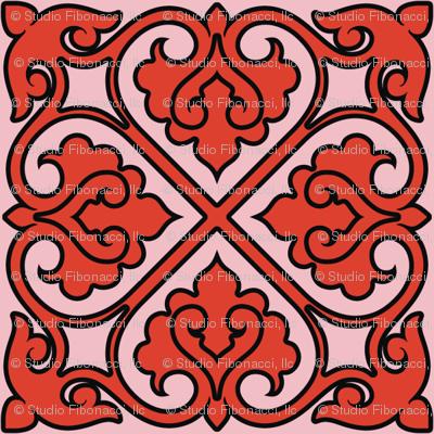 Victorian Ornament (red)