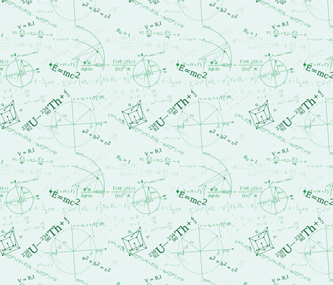 Equations (Green) fabric by studiofibonacci on Spoonflower - custom fabric