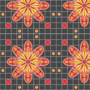 Red_GreyTribal_Flame_flower