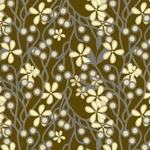 Wildwood Floral in taupe and gray