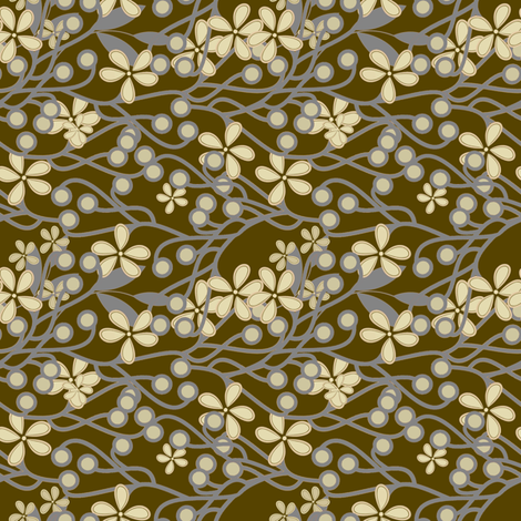 Wildwood in beige, gray and brown fabric by joanmclemore on Spoonflower - custom fabric