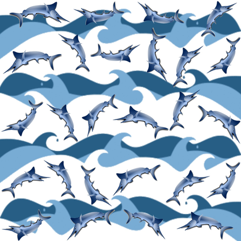 MARLIN MAGIC fabric by bluevelvet on Spoonflower - custom fabric