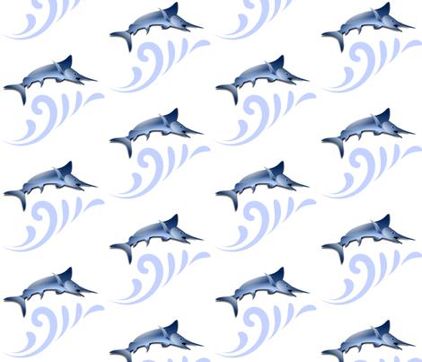 MARLIN SURF fabric by bluevelvet on Spoonflower - custom fabric
