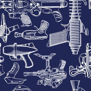 Ray Gun Revival (Navy Blue) (8x8)