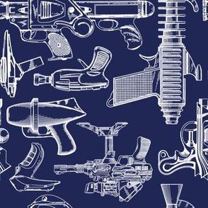 Ray Gun Revival (Navy Blue) (8x8)