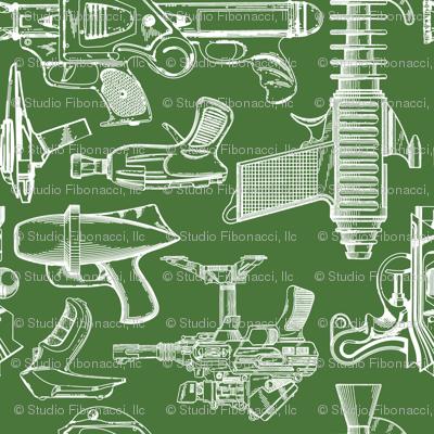 Ray Gun Revival (Olive Green) (8x8)