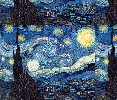 Shining, burning, bursting through - the stars!(17x13) fabric by studiofibonacci on Spoonflower - custom fabric