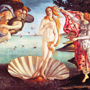 Botticelli - The Birth of Venus (1486) (54in)