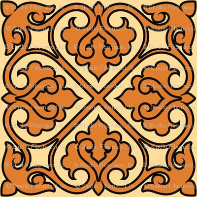 Victorian Ornament (orange)