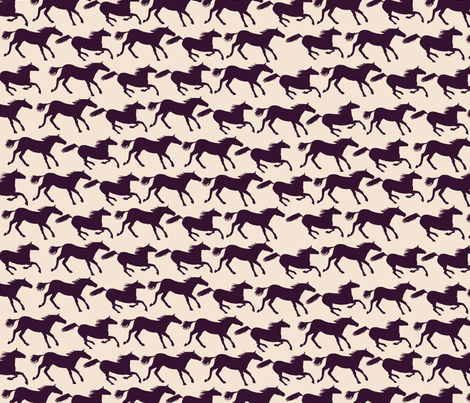 wild horses - brown fabric by babysisterrae on Spoonflower - custom fabric