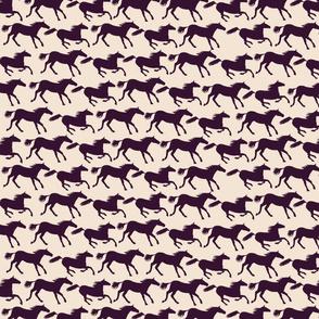 wild horses - brown
