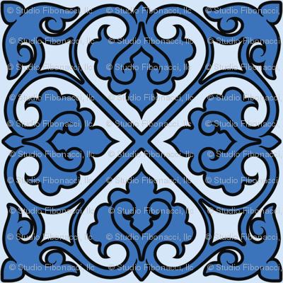Victorian Ornament (blue)