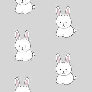 Cottontail in Gray