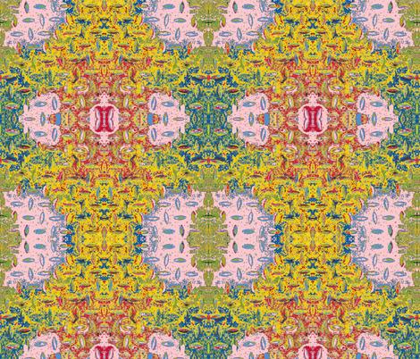 Tibetan Manhole Cover 2 fabric by susaninparis on Spoonflower - custom fabric