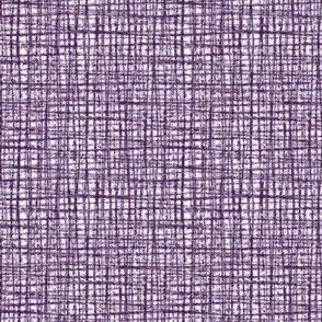 Plum Linen Weave