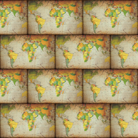 map bricks small fabric by krs_expressions on Spoonflower - custom fabric