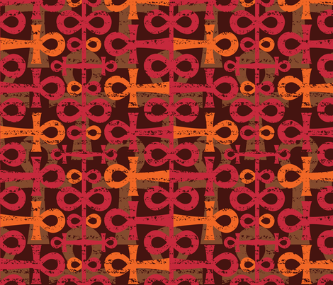 African Ankhs fabric by amel24 on Spoonflower - custom fabric