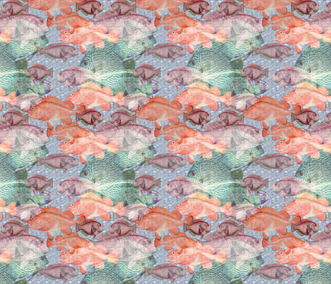 Something Fishy This Way Comes fabric by dogdaze_ on Spoonflower - custom fabric