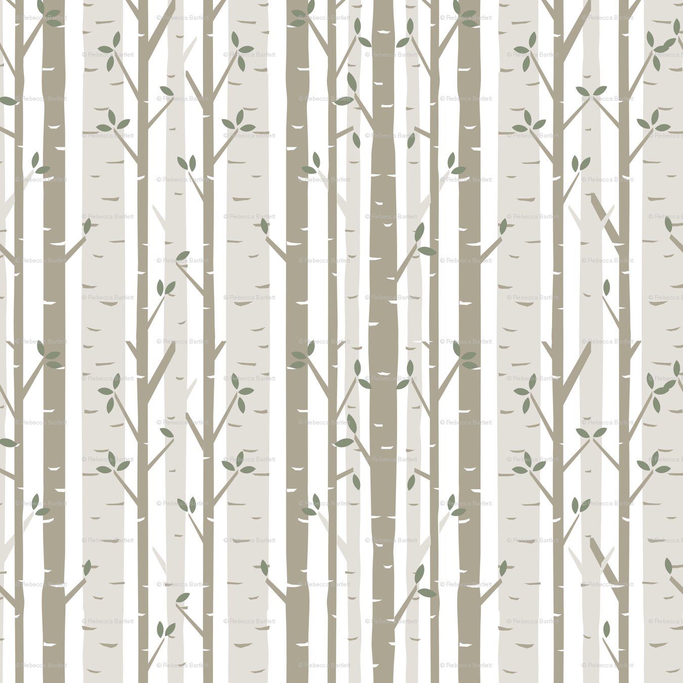 Favorite Birch Tree Fabric wallpaper - bartlett&craft - Spoonflower BQ65
