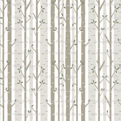 Birch Tree Fabric