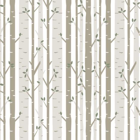 Birch Tree Fabric fabric by bartlett&craft on Spoonflower - custom fabric