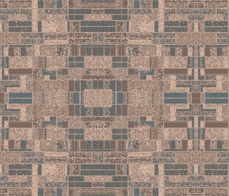 Terrace Wall 2 © Gingezel™ 2013 fabric by gingezel on Spoonflower - custom fabric