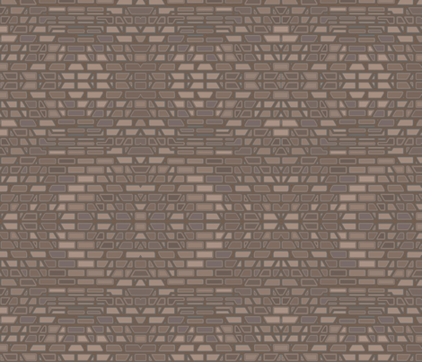 Terrace Wall 3 © Gingezel™ 2013 fabric by gingezel on Spoonflower - custom fabric
