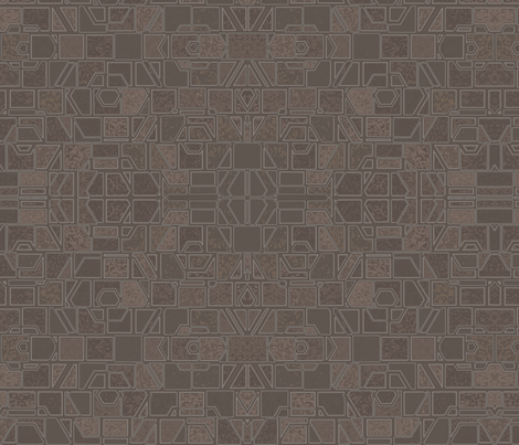 Terrace Wall 4 © Gingezel™ 2013 fabric by gingezel on Spoonflower - custom fabric