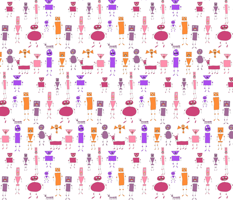 Mo-bot bold warm fabric by raccoonhedgehog on Spoonflower - custom fabric