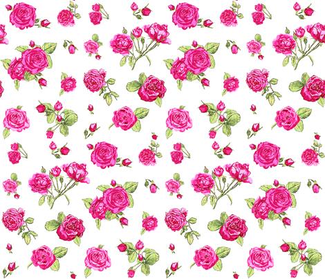 shabby chic roses fabric by katarina on Spoonflower - custom fabric