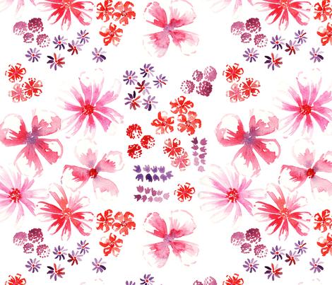 amélie fond blanc L fabric by nadja_petremand on Spoonflower - custom fabric