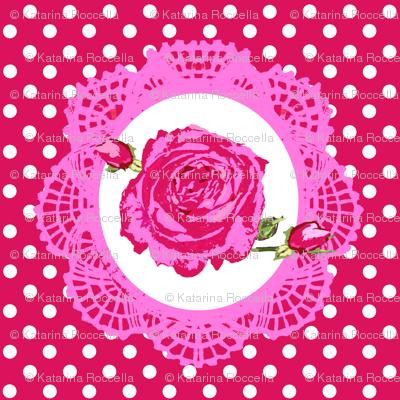 cameo rose dots