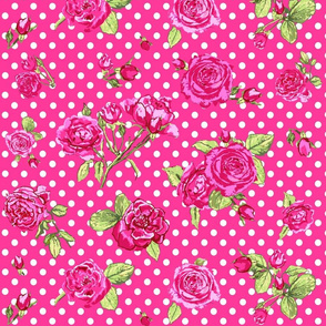 pink roses_with_dots