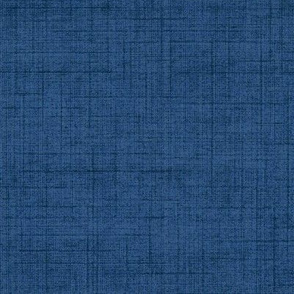 Linen - midnight blue, stonewashed woven threads