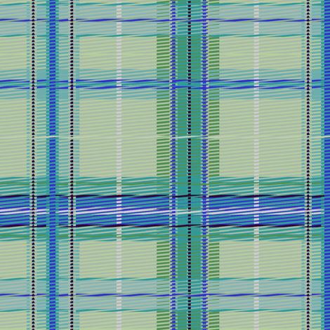 plaid_mintsky fabric by glimmericks on Spoonflower - custom fabric