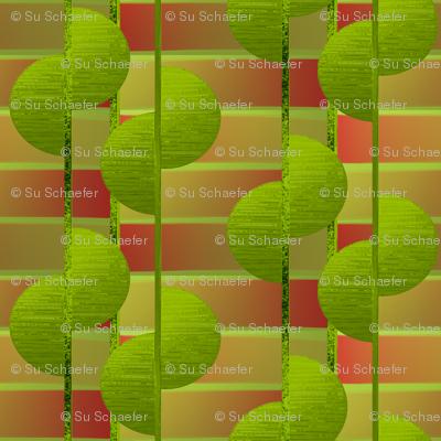 Lime half circles by Su_G
