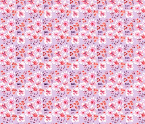 amélie fond mauve S fabric by nadja_petremand on Spoonflower - custom fabric
