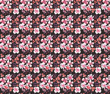 amélie fond noir S fabric by nadja_petremand on Spoonflower - custom fabric