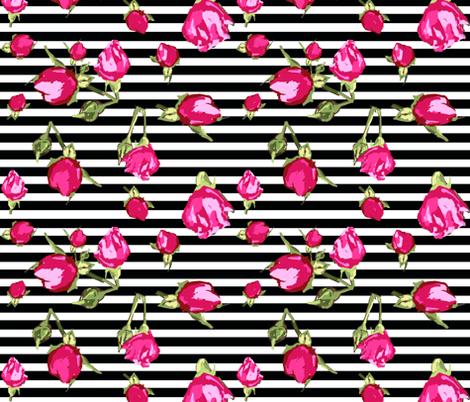 buds floral geopmetric stripe fabric by katarina on Spoonflower - custom fabric