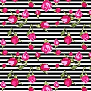 buds floral geopmetric stripe